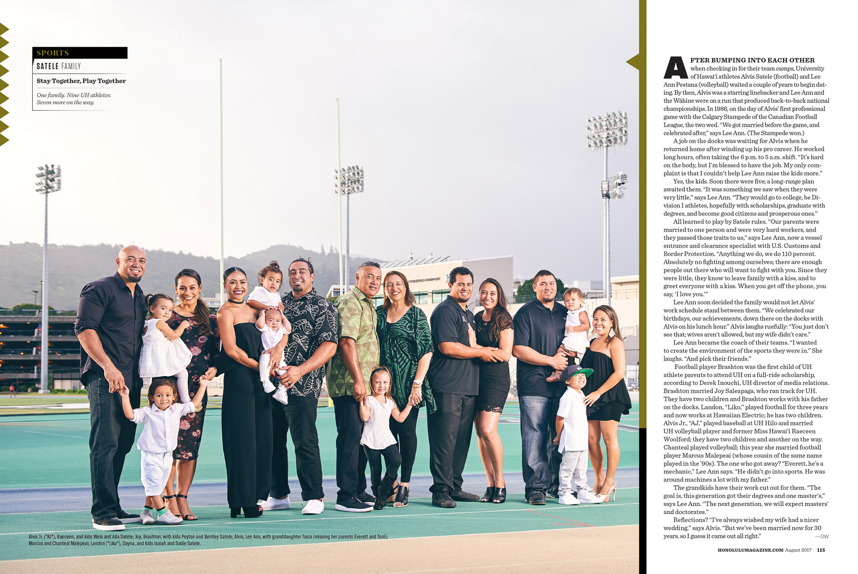 Satele Family University of Hawaii Athletics